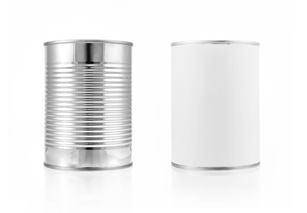 metal can with no label