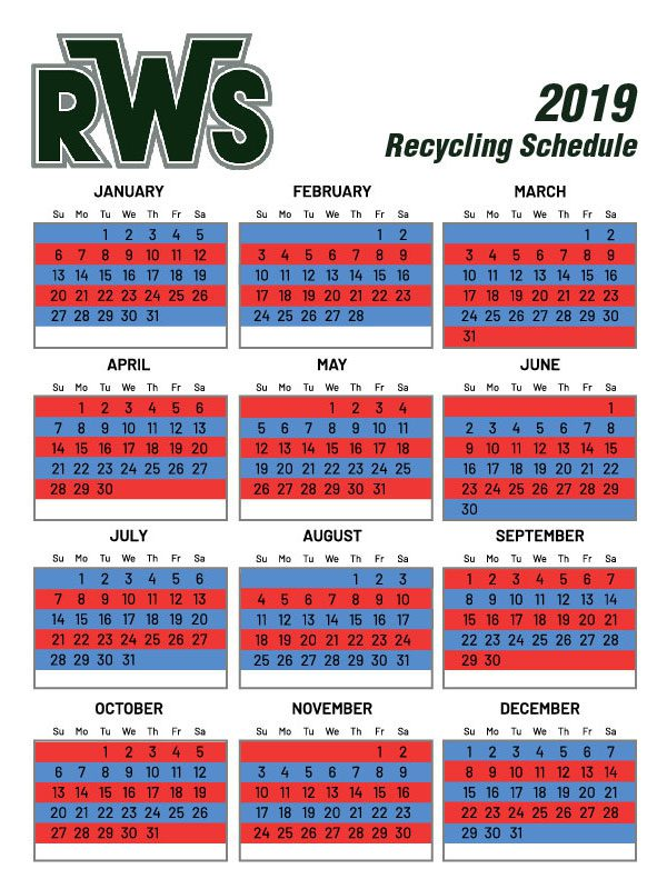 Recycling Service Schedule Trumbull CT | RWS | 203-334-1660