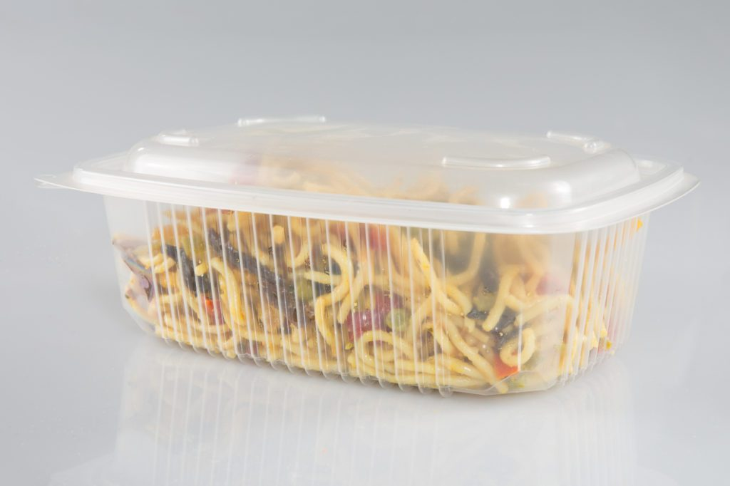takeout in plastic takeaway container